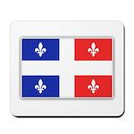 Drapeau Quebec Bleu Rouge Mousepad
