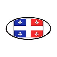 Drapeau Quebec Bleu Rouge Patches