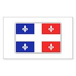 Drapeau Quebec Bleu Rouge Sticker (Rectangle 50 pk