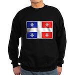 Drapeau Quebec Bleu Rouge Sweatshirt (dark)