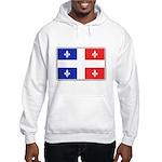 Drapeau Quebec Bleu Rouge Hooded Sweatshirt