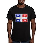 Drapeau Quebec Bleu Rouge Men's Fitted T-Shirt (da