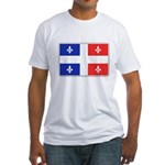 Drapeau Quebec Bleu Rouge Fitted T-Shirt