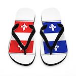 Drapeau Quebec Bleu Rouge Flip Flops