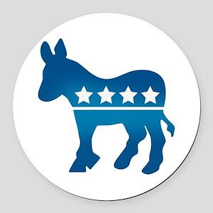 Democrats Donkey Round Car Magnet
