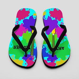 ff art teacher 4 Flip Flops