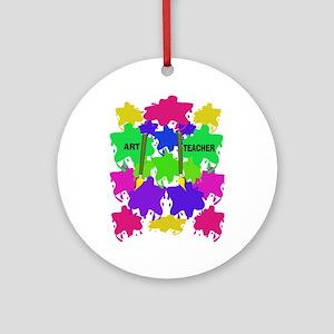ff art teacher 2 Ornament (Round)