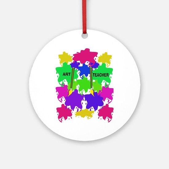 ff art teacher 2.PNG Ornament (Round)