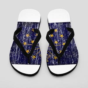 Indiana Flag Flip Flops