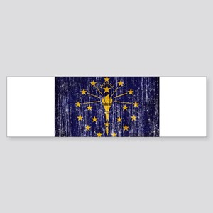 Indiana Flag Sticker (Bumper)