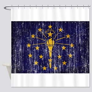 Indiana Flag Shower Curtain