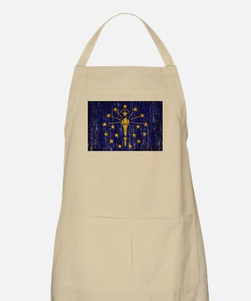 Indiana Flag Apron