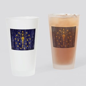 Indiana Flag Drinking Glass
