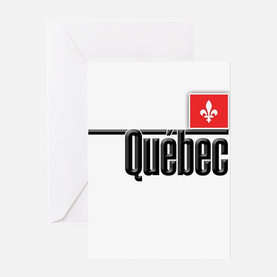 Quebec Red Square Greeting Card