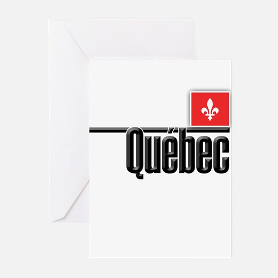 Quebec Red Square Greeting Cards (Pk of 10)