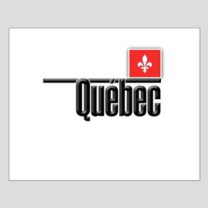 Quebec Red Square Small Poster