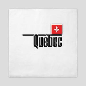 Quebec Red Square Queen Duvet