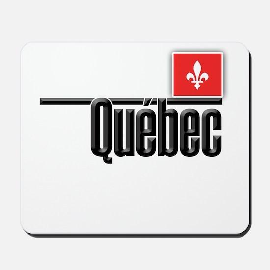 Quebec Red Square Mousepad