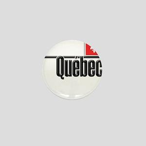 Quebec Red Square Mini Button
