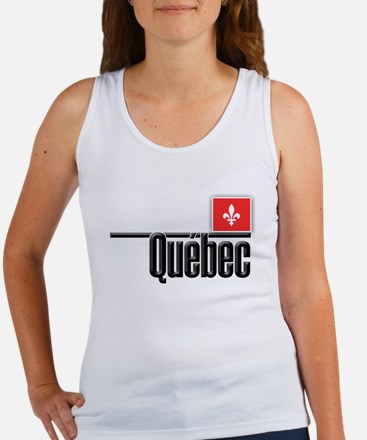 Quebec Red Square Women's Tank Top
