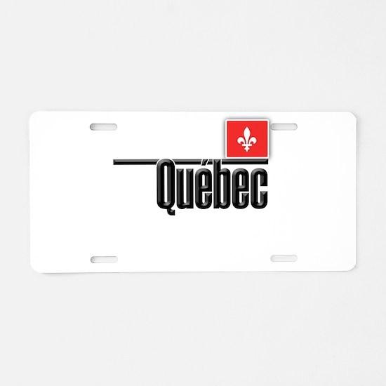 Quebec Red Square Aluminum License Plate