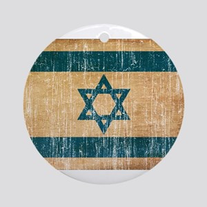 Israel Flag Ornament (Round)