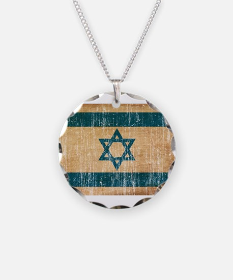 Israel Flag Necklace