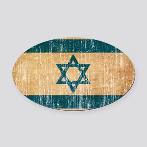 Israel Flag Oval Car Magnet