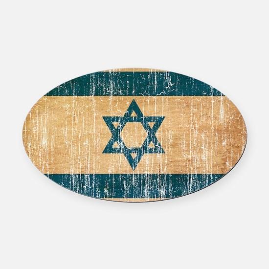 Israel Flag Oval Car Magnet