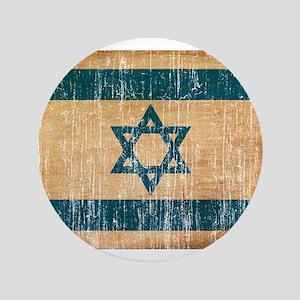"Israel Flag 3.5"" Button"