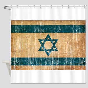 Israel Flag Shower Curtain