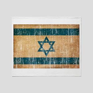 Israel Flag Throw Blanket