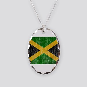 Jamaica Flag Necklace Oval Charm