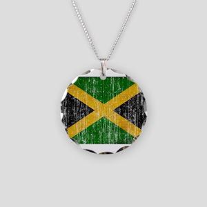 Jamaica Flag Necklace Circle Charm