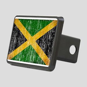 Jamaica Flag Rectangular Hitch Cover