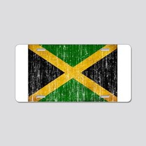 Jamaica Flag Aluminum License Plate