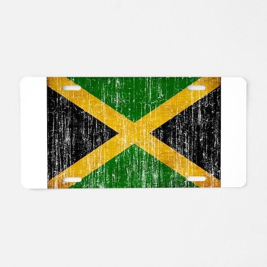 Jamaica Flag Aluminum License Plate