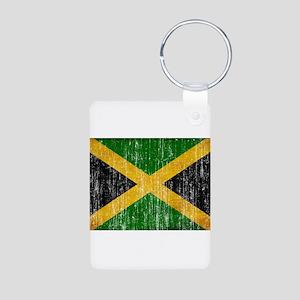 Jamaica Flag Aluminum Photo Keychain