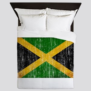 Jamaica Flag Queen Duvet