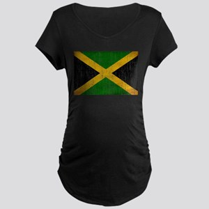 Jamaica Flag Maternity Dark T-Shirt