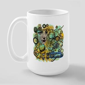 MECHANICAL AGE STEAMPUNK Large Mug