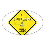 Chupacabra Stickers (Oval)