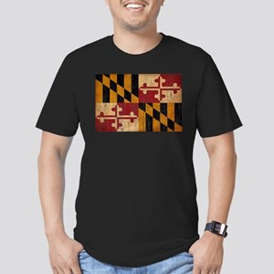 Maryland Flag Men's Fitted T-Shirt (dark)