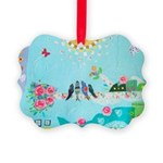 Bird Family Collage Art Picture Ornament