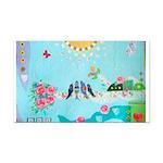 Bird Family Collage Art Rectangle Car Magnet