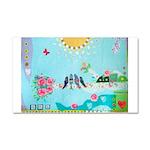 Bird Family Collage Art Car Magnet 20 x 12
