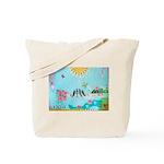 Bird Family Collage Art Tote Bag