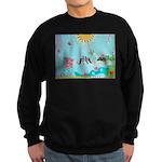 Bird Family Collage Art Sweatshirt (dark)