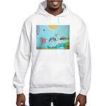 Bird Family Collage Art Hooded Sweatshirt