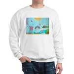 Bird Family Collage Art Sweatshirt
